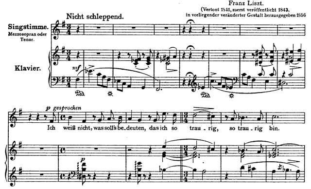 Liszt, Die Lorelei